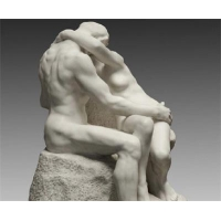 Rodin Museum Beautiful Marble Sculpture of The Kiss