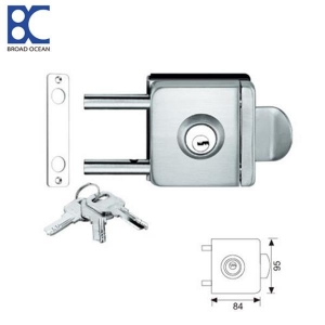 China Double-sided door control high-quality push-pull bathroom glass door locks on sale