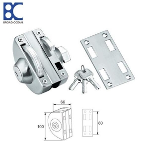 China Aluminum frameless glass door lock patch fittings on sale