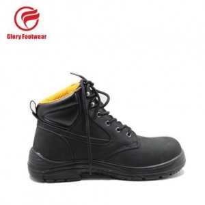 China top embossed leather safety shoes with steel toe shoes for m on sale