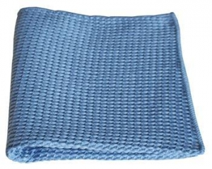 China BULK CASE (204/Cs) 16 X 16 BLUE WAFFLE WEAVE Microfiber Glass Cleaning/Polishing Cloths on sale