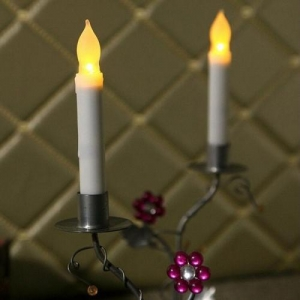 China Plastic Dripping Flicker Flameless LED Candles with Switch on sale