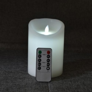 China white outdoor and indoor decoration flameless flicker moving led candle with remote control on sale