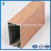 China Wood finish aluminum powder coated profile for architectural aluminium profile for sale