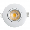 China LED Recessed Lighting Dimmable COB Eyeball Gimbal Light 8W 3inch for sale