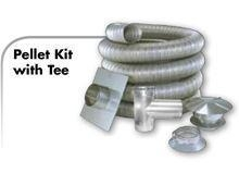 China Z Flex Z Vent Flexible Wood Stove Stainless Steel Vent Kit 6 inch by 35 feet - 2ZFLKIT0635 on sale