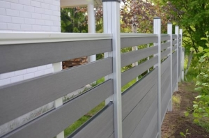 China Easily Assembled Decorative Wood Plastic Composite WPC Garden Fence Panels on sale
