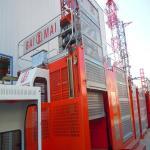 Construction hoist Shandong brand SC100/100 passenger & material building hoist