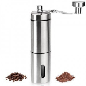 China HornTide Manual Coffee Grinder Adjustable Ceramic Conical Burr Mill on sale