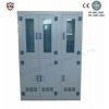 China Poly Storage Cabinet Custom 350 L Medical Storage Cabinet With Dual Glass Door for sale