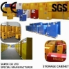 China Chemical Storage Cabinet Blue metal Corrosive Storage Cabinet / Hazardous Storage for sale