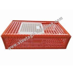 China Poultry Equipment Poultry Transport Cage Duck and Goose Plastic Transport Cage on sale