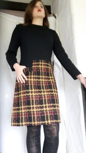 China 1960s Original New A line Pure Wool Dress 'Sylvies' 36 inch Chest on sale