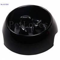 China Dog Dish/Feeder Slow Feed Dog Bowl With three Pillar Centre- Black 531005 on sale