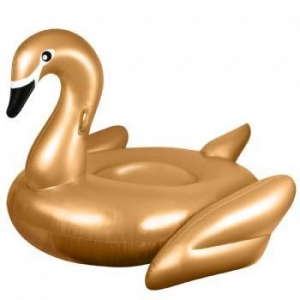China hot sale Inflatable animal float inflatable water toys inflatable gold swan for sale on sale