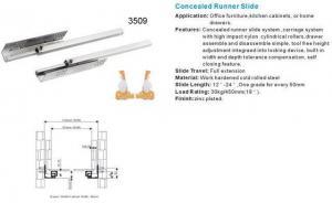 China Drawer Slide 3/4 extension concealed runner slide 3509 on sale