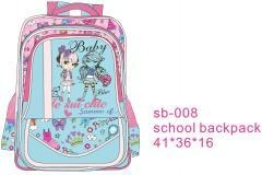 China school backpack summer baby Item No.: sb-08 on sale