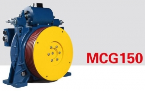China Traction System PERMANENT MANGNET SYNCHRONOUS GEARLESS TRACTION MACHINE MCG150(630-800KG) on sale