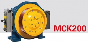China Traction System PERMANENT MANGNET SYNCHRONOUS GEARLESS TRACTION MACHINE MCK200(630-1150KG) on sale