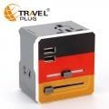 China Universal Travel Adapter european plug socket adapter with dual usb for phone adapter  A7 on sale