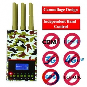 China Handheld Type Military Camouflage Jammers All Mobile Phone LOJACK on sale