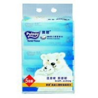 China Pulppy 3-Ply Soft Pack Facial Tissue on sale