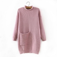 China Latest long ladies knitted blank sweater women green sweaters on sale