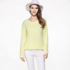 China Professional sweater manufacturer custom make alpaca knitting women jumper on sale