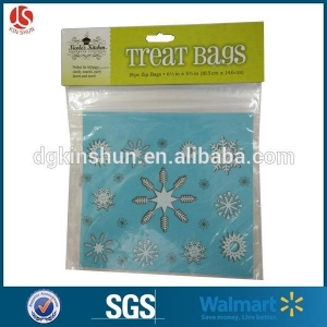 China Christmas Zipper Treat Bags Recyclable Bag on sale