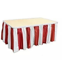 China Suppliers High Quality Plastic Table Skirt Decoration Table Skirting