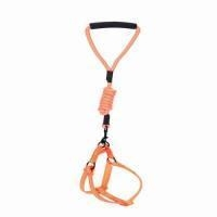 China CH002L-OR Durable Reflective Leash Harness Set,No Pulling Dog Harness and Leash for Pet on sale