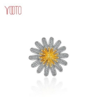 2018 hot sale large AAA zircon flower daisy brooch jewelry gift