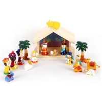 China Wooden nativity set for kids on sale