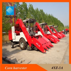 China Agricultural equipment 4YZ-3A self-propelled corn combine harvester on sale