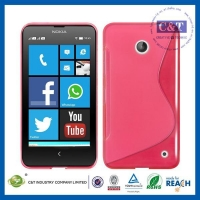 Nokia Cases C&T Slim Grip Wave S-Line TPU Gel Case Soft Skin Cover FOR Nokia Lumia 630