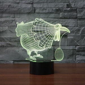 China ANIMALTOPIC Hens lay eggs Shape 3D Illusion Led Lamp FS-3571 on sale