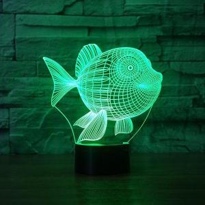 China ANIMALTOPIC Fish Shape 3D Illusion Led Lamp FS-3573 on sale