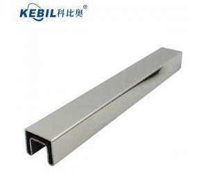 China stainless steel slot tube top handrail on sale