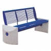 China Benches Arlau FS05 Concrete and Metal Name:Arlau FS05 Concrete and Metal Park Bench with Backrest for sale
