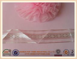 China 25mm polyester christmas decorative sheer organza ribbon on sale