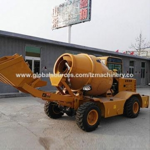 China Self-loading concrete mixer truck, 1.2 cubic meters on sale