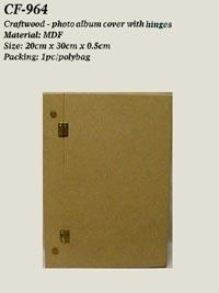 China Craft wood - photo album cover w/hinges & screws on sale