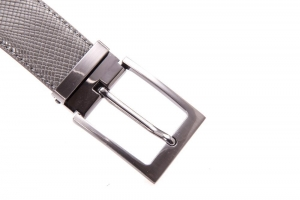 China belts for men AFM7011 Mens Grey PU Trendy Jeans Belt with Satin Nickle Buckle on sale
