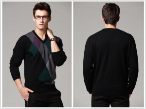 China Men Intarsia Knitwear on sale