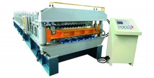 China New Metal Roll Forming Machine Double Layer Rollformer for Corrugated and T Shape Sheet on sale