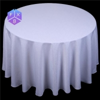 white polyester jacquard table cloth for wedding, hotel