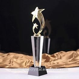 China Trophy & Award Customized cheap 3D Laser Crystal Glass Award Trophy on sale