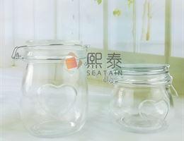 China For Kitchen 3pcs Set Double Base Glass Storage Jar on sale