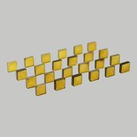Yellow HPHT synthetic diamond plate
