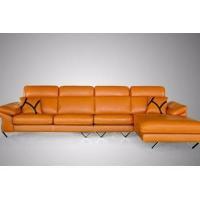Italy imports yellow Ngau Tau sofa Stainless steel leather sofa M-1308